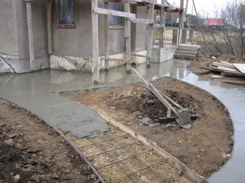 Тротуарная плитка заливка бетоном