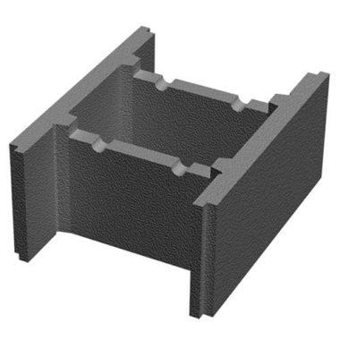 Блок несъемной опалубки бетонный (510х400х235) Золотой Мандарин
