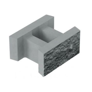 Блок декоративний незнімної опалубки бетонний (500х400х235) Золотий Мандарин