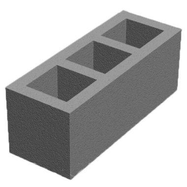 Блок для вентканалов бетонный (660x250x250) Золотой Мандарин