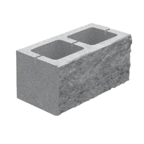 Блок декоративний бетонний (400х200х200) скол 1 боку Золотий Мандарин