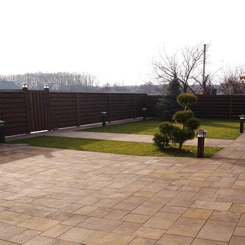 Модерн 60мм тротуарная плитка Золотой Мандарин