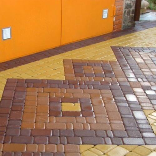 Старый город 60 мм горчичная тротуарная плитка Золотой Мандарин