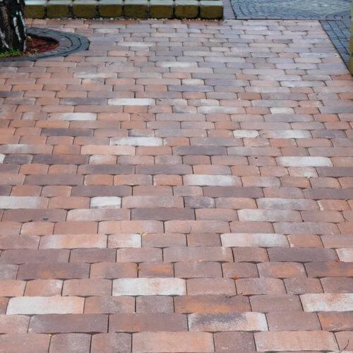 Стара площа 40 мм тротуарна плитка Золотий Мандарин