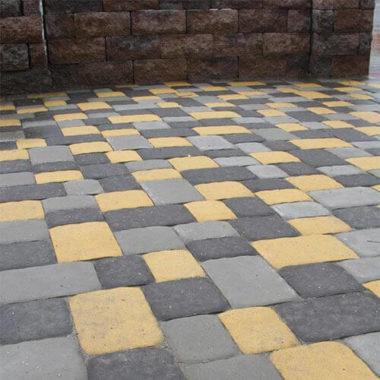 Старая площадь 40 мм серая тротуарная плитка Золотой Мандарин