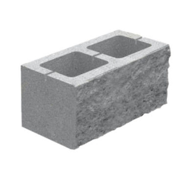Блок декоративный (400х200х150) для забора серый