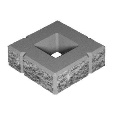 Блок декоративный бетонный для столба (300х300х100) Золотой Мандарин