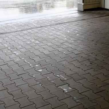 Двойное Т 80мм серая тротуарная плитка Золотой Мандарин