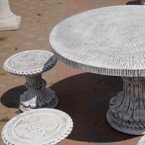 Стол круглый Куерда 770х1200 мм светлый доп фото