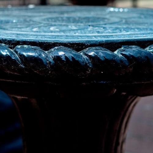 Стол круглый Куерда 770х1200 мм Золотой Мандарин