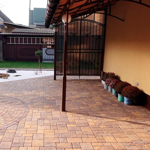 Венеция латина 60мм тротуарная плитка Золотой Мандарин