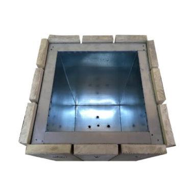 Цветочница Кантри квадратная (530х530х600) серая Золотой Мандарин