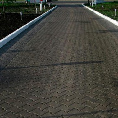Двойное Т 80мм черная тротуарная плитка Золотой Мандарин