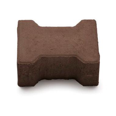 Двойное Т 80мм коричневая тротуарная плитка Золотой Мандарин