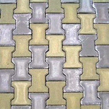 Подвійне Т 80мм гірчична тротуарна плитка Золотий Мандарин
