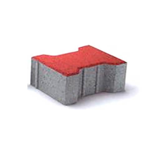 Двойное Т 80мм красная тротуарная плитка