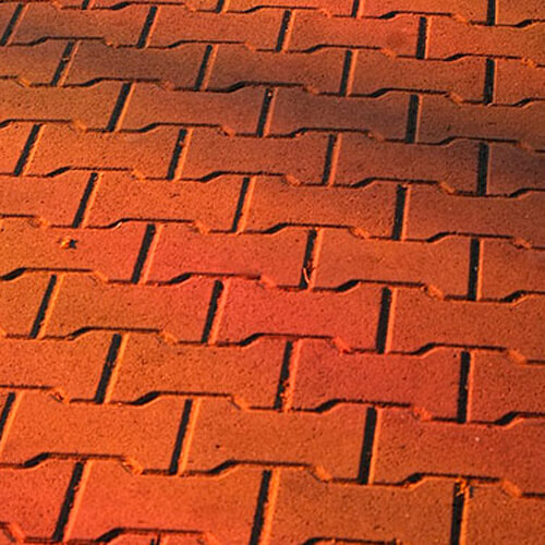 Двойное Т 80мм красная тротуарная плитка доп фото 1