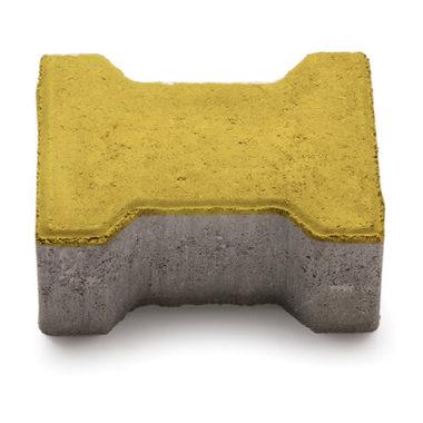 Двойное Т 80мм желтая тротуарная плитка Золотой Мандарин