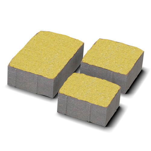 Старая площадь 40 мм желтая тротуарная плитка Золотой Мандарин