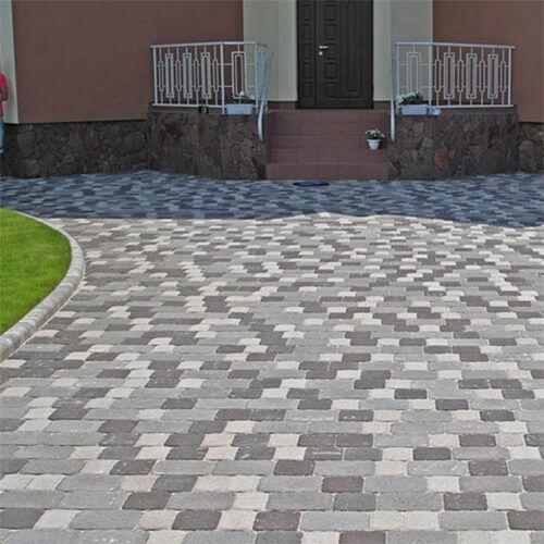 Старая площадь 40 мм черная тротуарная плитка Золотой Мандарин