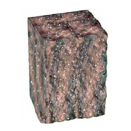 Столбик декоративный болонья с мрамором 200х175х150 Золотой Мандарин
