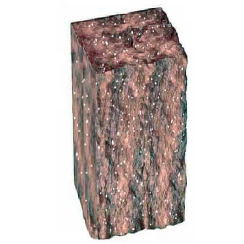 Столбик декоративный болонья с мрамором 300х100х150 Золотой Мандарин
