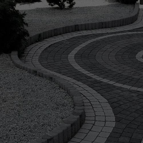 Поребрик фигурный круглый серый 67х80 мм Золотой Мандарин