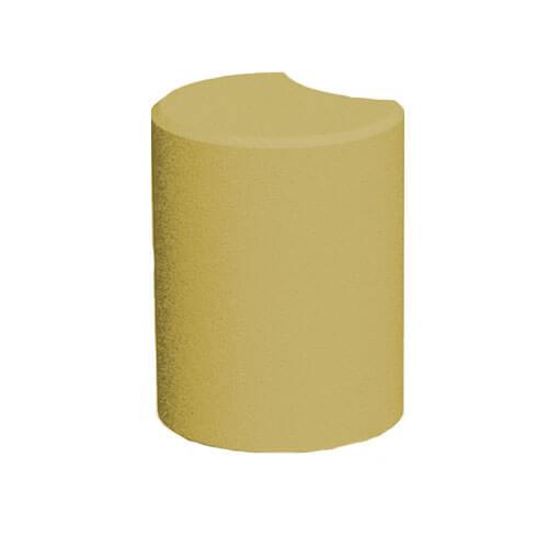 Поребрик фігурний круглий чорний 67х80 мм Золотий Мандарин