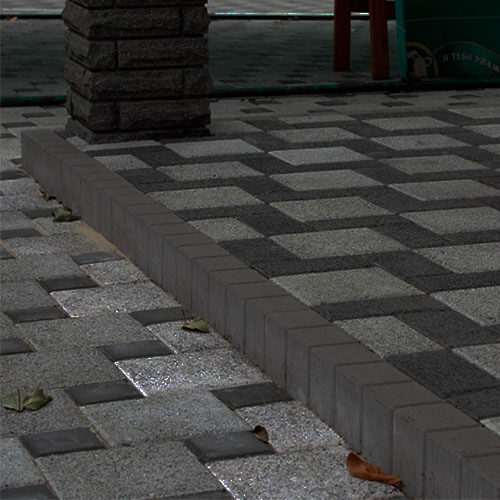 Поребрик фигурный квадратный серый 100х80 мм Золотой Мандарин