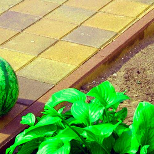 Поребрик персиковый 1000х200х60 мм Золотой Мандарин